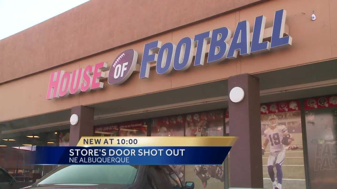 Albuquerque police are investigating an attempted break-in at the House of Football on Eubank Boulevard, after someone shot a door window overnight.