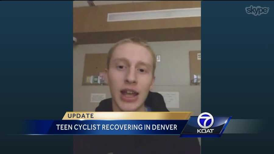 The Albuquerque teenage cyclist hit in the South Valley earlier this year is recovering at a Denver facility.