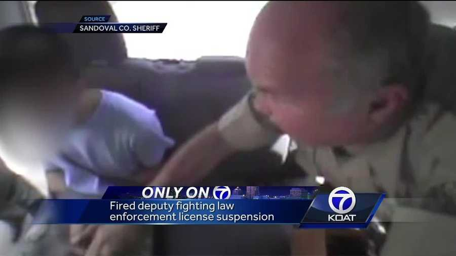 A fired deputy is fighting law enforcement license suspension.