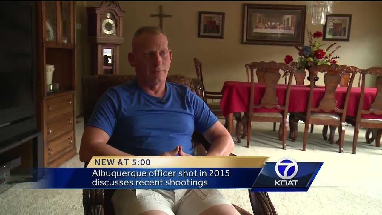 Some officers in Albuquerque relive the moments they face fire, when officer involved shootings happen in other parts of the country. KOAT talked to a cop who was shot while on a traffic stop last year.