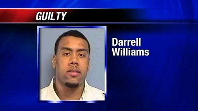 A jury has found Darrell Williams guilty of rape.