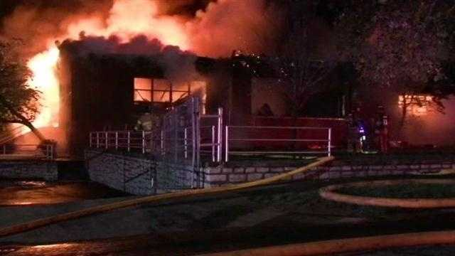 Several firefighters are recovering after a massive school inferno.