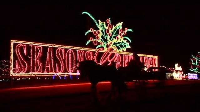 A week before Thanksgiving, the holiday lights are already up in Yukon.
