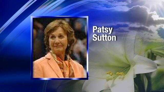 The wife of former Oklahoma State University basketball coach Eddie Sutton, Patsy Sutton, has died. She was 74.