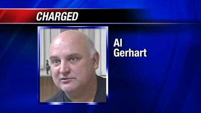 Al Gerhart, a co-founder of the Sooner Tea Party, has been charged with blackmail in connection with messages he sent to State Sen. Cliff Branan.