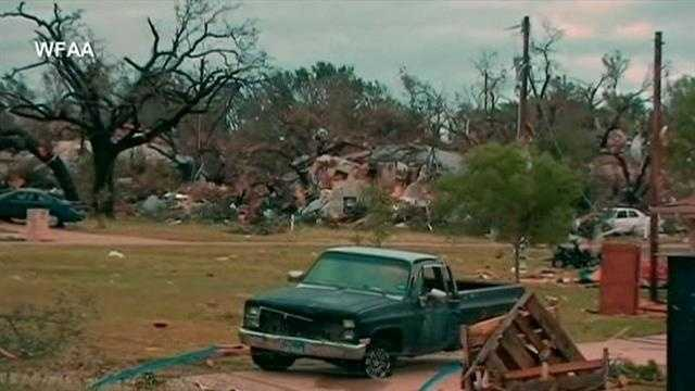 There are still people unaccounted for in North Texas after 16 tornadoes swept through the area. The storms killed 6 people and it's not clear when survivors will be allowed to return to their homes.