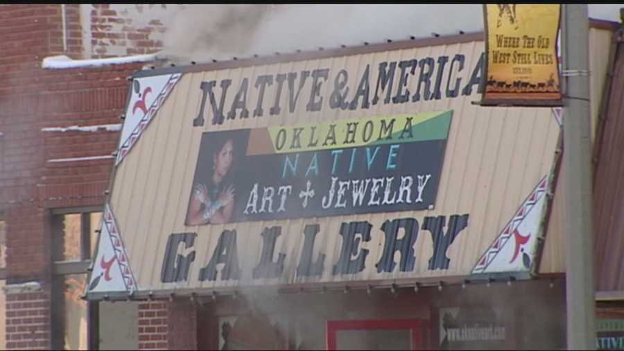 The woman owns the Oklahoma Native Art Gallery