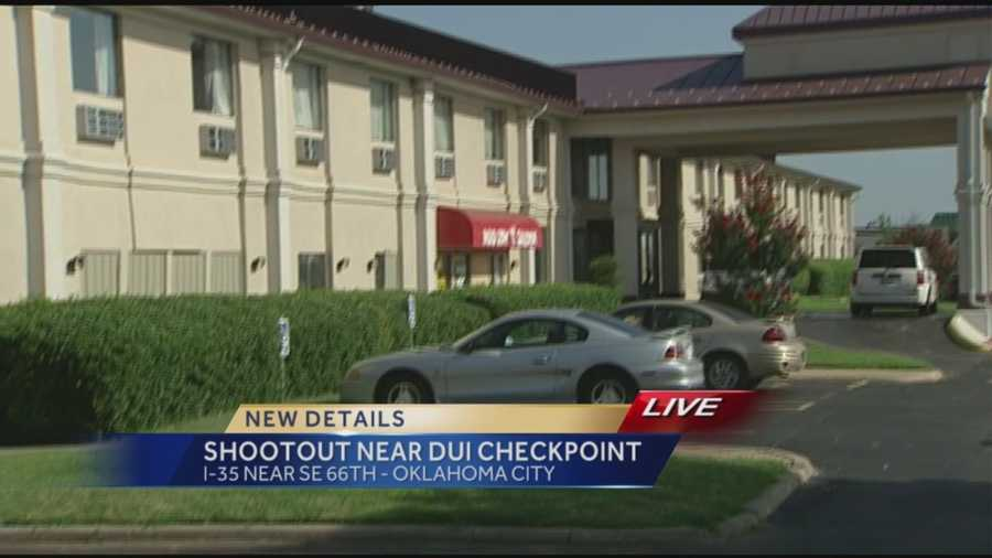 People are looking for two people who were involved in a shooting at a north Oklahoma City hotel late Saturday night.