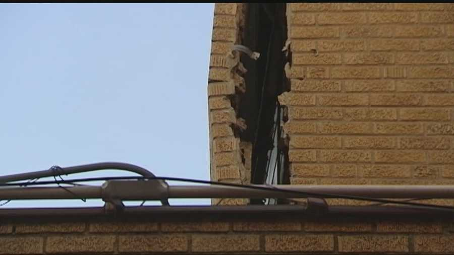 The Broadway Tower Hotel in Enid has been closed indefinitely while crews work to repair the west side of the building.
