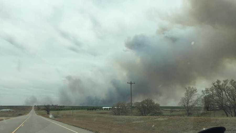 The fire seen from south of Freedom