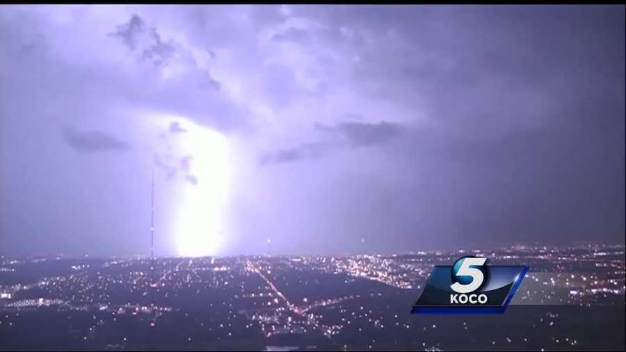 The Oklahoma City Fire Department received 11 calls Monday night that were related to lightning strikes in the area. A teen had to be taken to a hospital after getting shocked in connection with the storm.