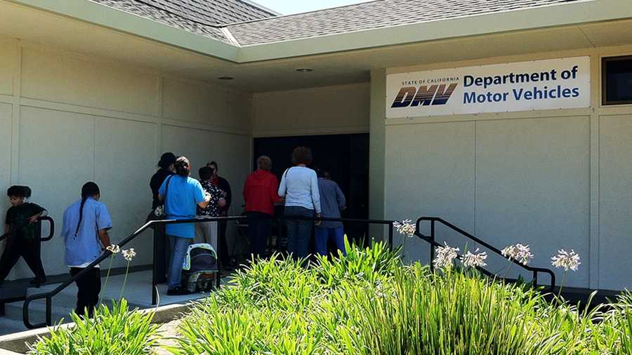 A line stretches out the door at Salinas' DMV on Tuesday. (Aug. 14, 2012)