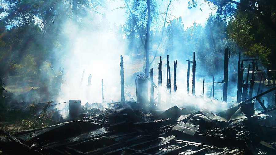 A fire consumed this house near Felton Monday. (Oct. 15, 2012)