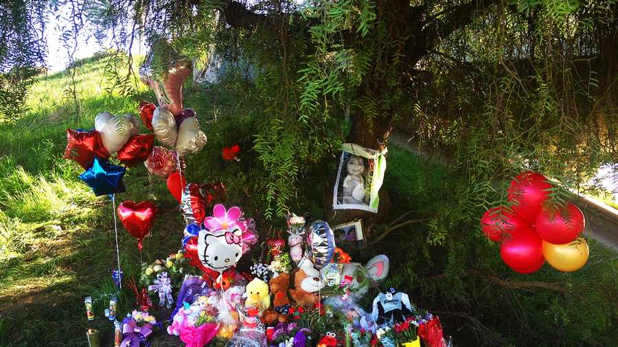 This memorial was built where a Castroville baby was found buried under a tree in Salinas.
