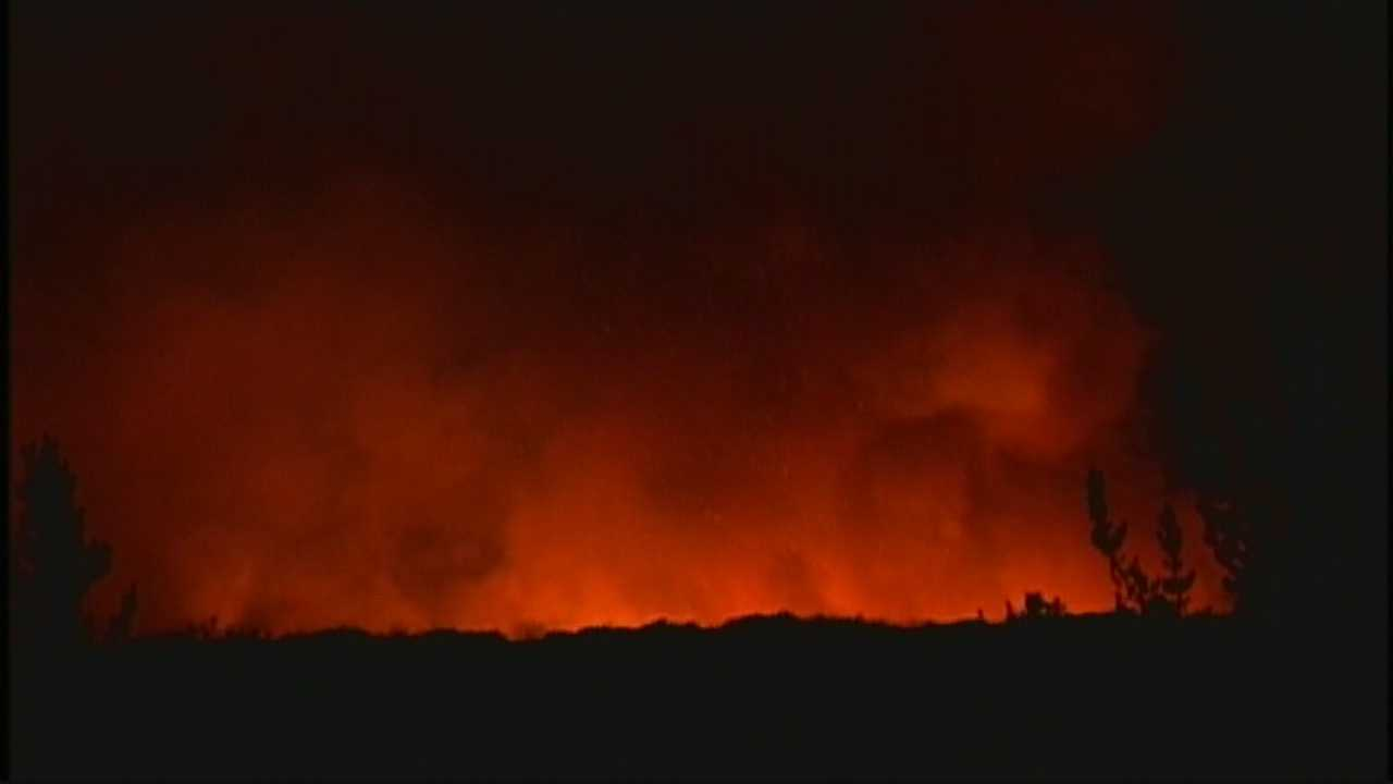 Flames could be seen from around the peninsula Tuesday night.