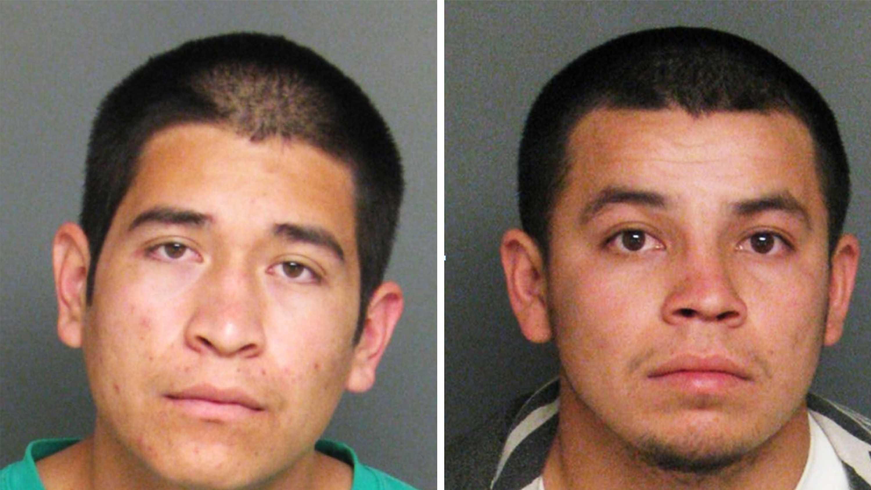 Francisco Chacala-Valdez, left, and Juan Hernandez-Delgado, right, are seen in police mug shots.