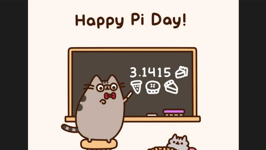 Even Pusheen the Cat loves Pi Day.