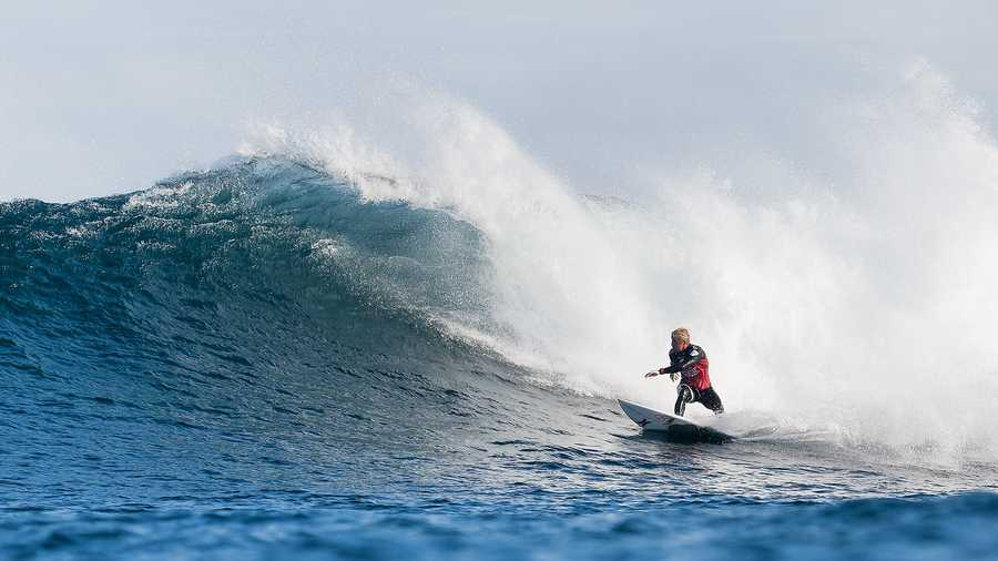 Nat Young is seen here competing at the 2014 Drug Aware Margaret River Pro in Australia.