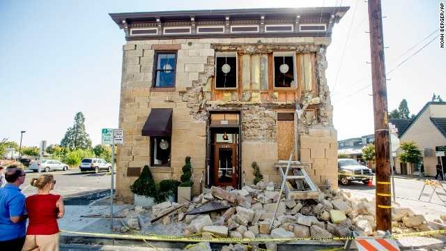 A 6.0 earthquake in Napa heavily damaged this winery's tasting room.