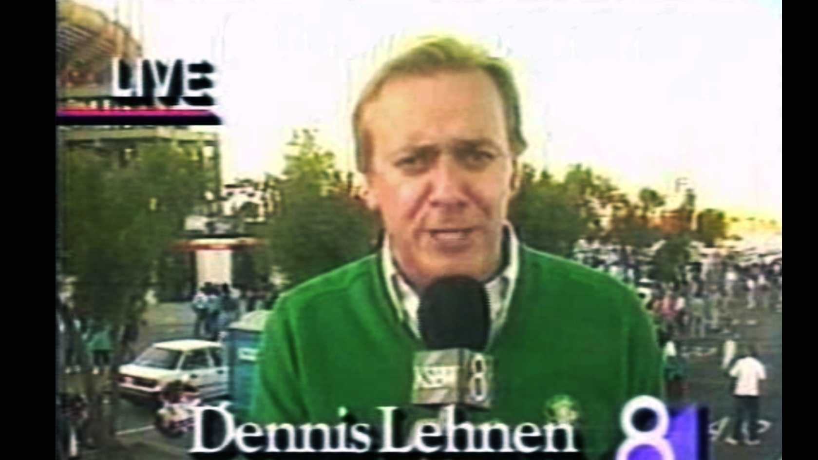 Dennis Lehnen is seen here minutes before the 1989 Loma Prieta Earthquake hit.