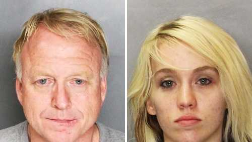 Thomas Price, left, and Brittney Hall, right, are seen in mug shots.