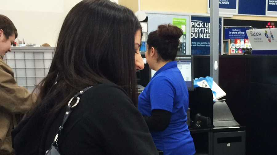 Best Buy in Marina was not extremely crowded Friday morning.