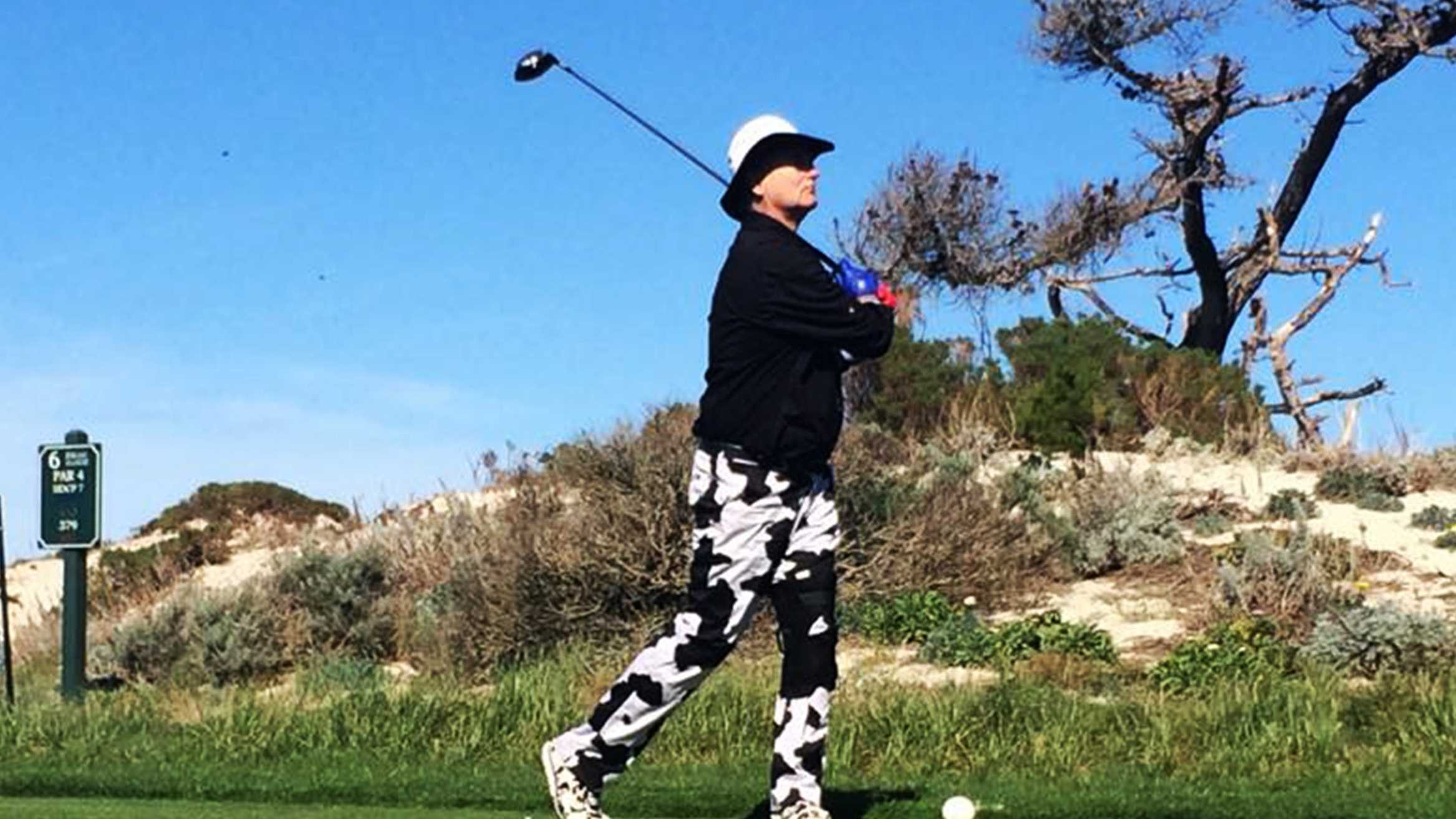 Bill Murray sported cow pants on Friday.