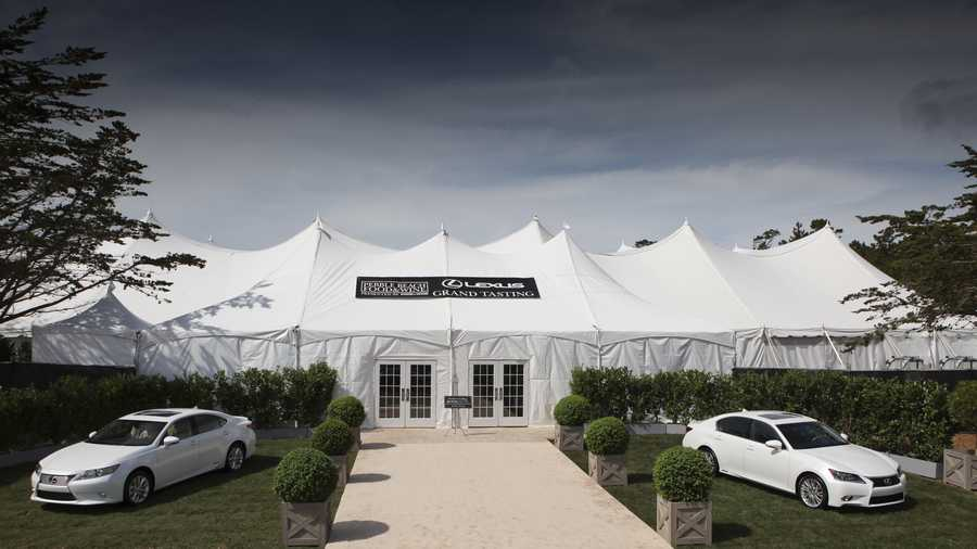 Lexus  Tasting Tent ready for action at Pebble Beach Food & Wine Festival