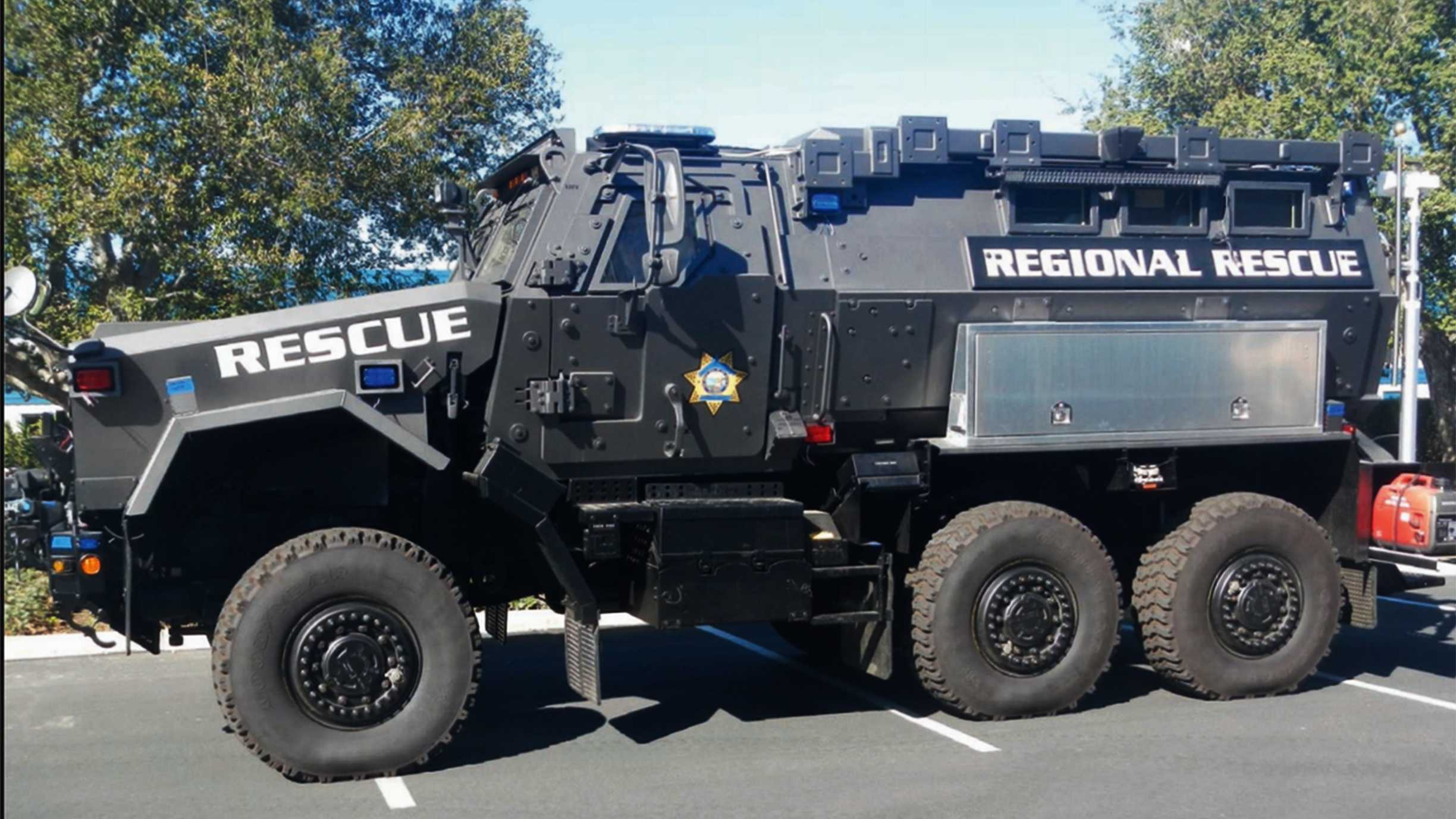 The Del Rey Oaks Police Department has this armor vehicle.