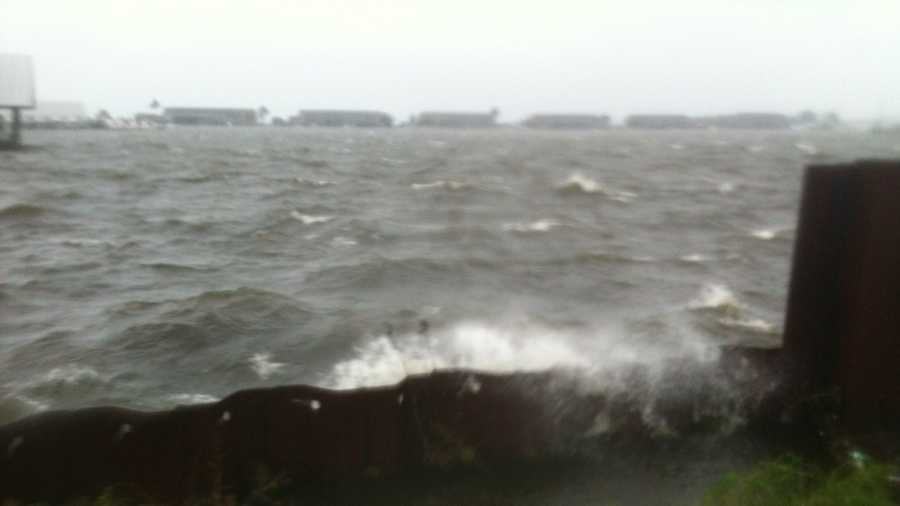 Isaac led to choppy conditions and threatened some boats that were docked at the Ross Barnett Reservoir.