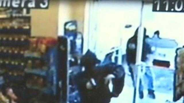 Jackson police released surveillance video that shows a trio of brazen-armed robbers knocking off a drugstore.