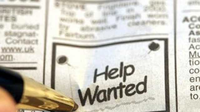 Help wanted unemployment hiring jobs