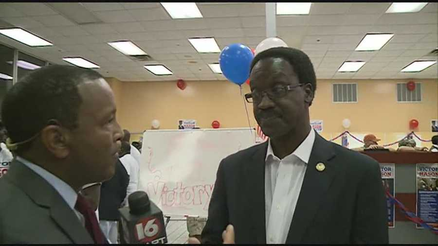 Victor Mason defeats incumbent Tyrone Lewis in the Democratic primary for Hinds County sheriff.