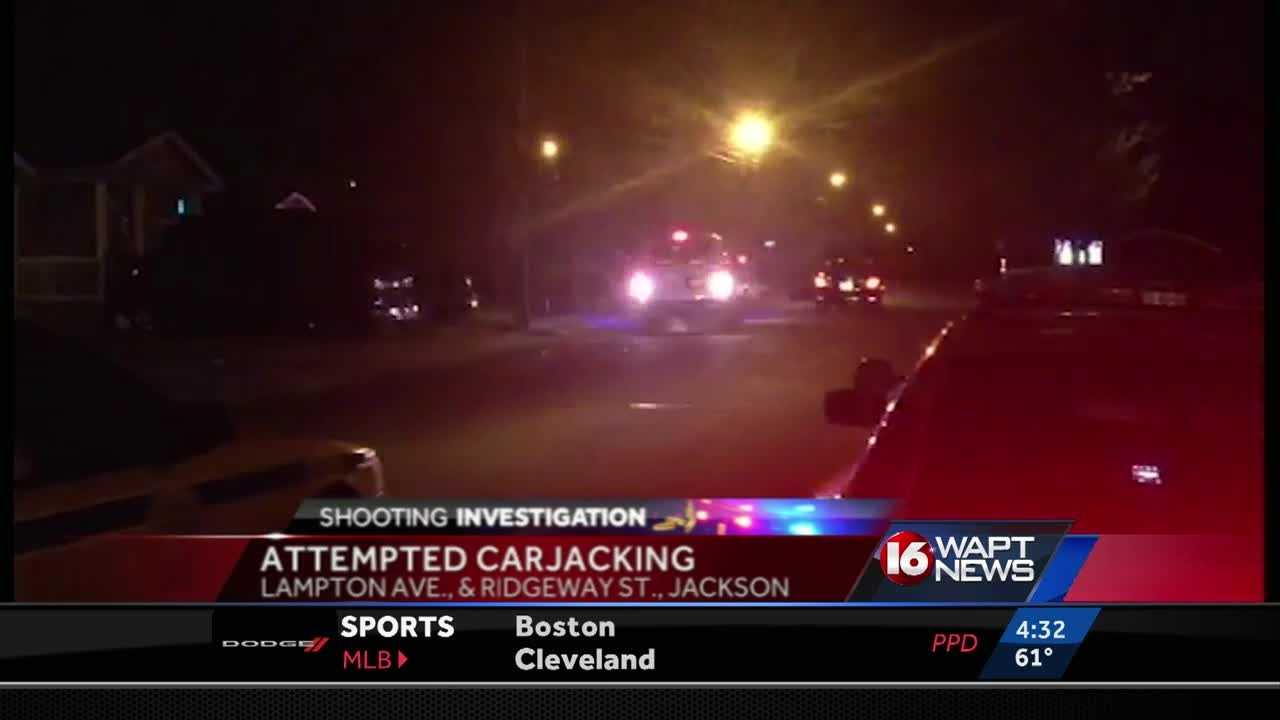 Jackson police are investigating an attempted carjacking and shooting.