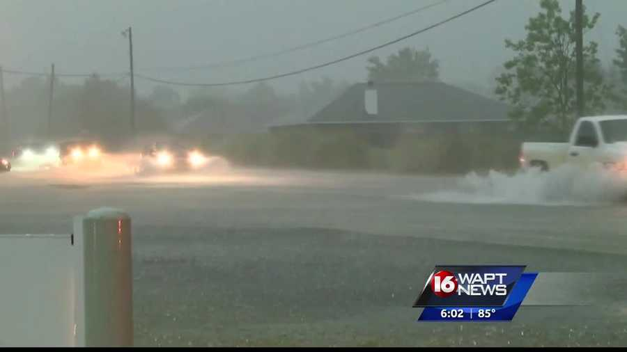 After being hit with a deluge, roads were closed and washed away in some parts of the region. 16 WAPT's Ross Adams reports.