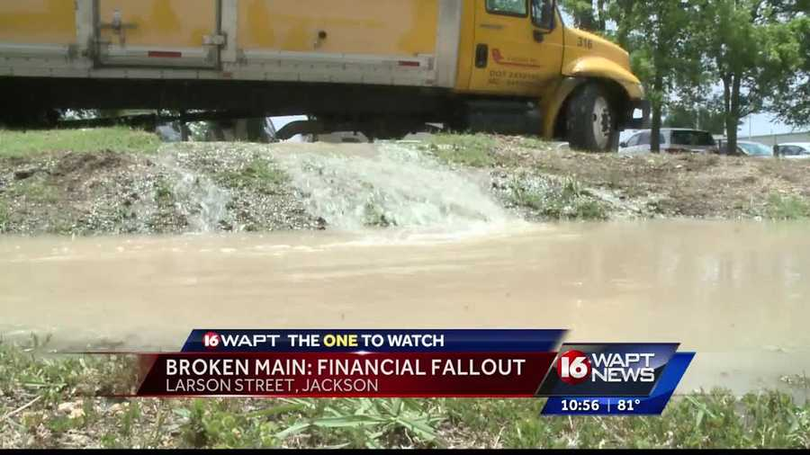 Tonight at ten, crews just finished fixing the water main break in downtown Jackson causing problems for a major event.