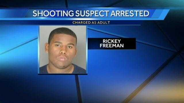 Police said they are charging Rickey Freeman, of Woodlawn, as an adult in connection with a shooting near Security Square Mall on Friday.