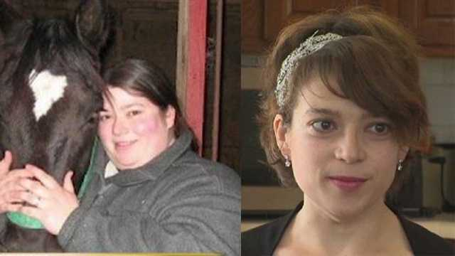 Colleen Martin -- before losing 260 pounds (left) and after (right)