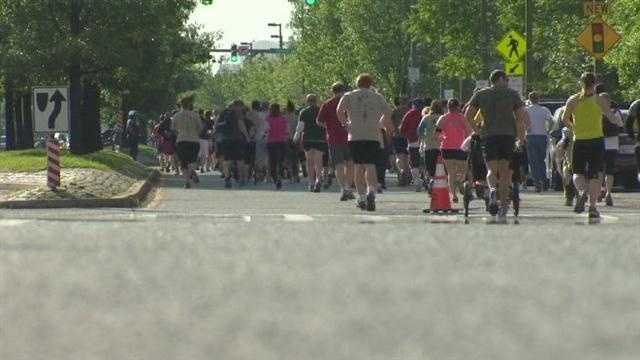 Hundreds of feet pounded the streets of Baltimore to pay tribute to fallen heroes on this Memorial Day.