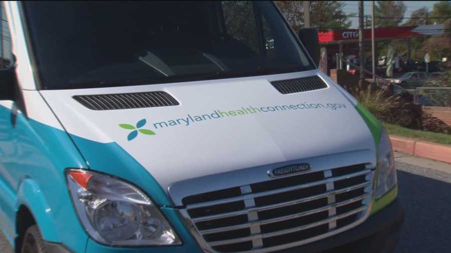 Representatives answered questions about the Affordable Health Care Act as the Maryland Health Connection van made its last stop in Woodlawn.