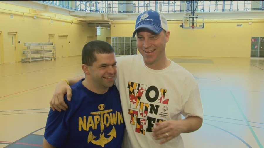 Proceeds from the 18th annual Maryland State Police Polar Bear Plunge, which takes place at Sandy Point State Park this weekend, will benefit the Maryland Special Olympics. A pair of plungers talk about how their friendship developed through the years.