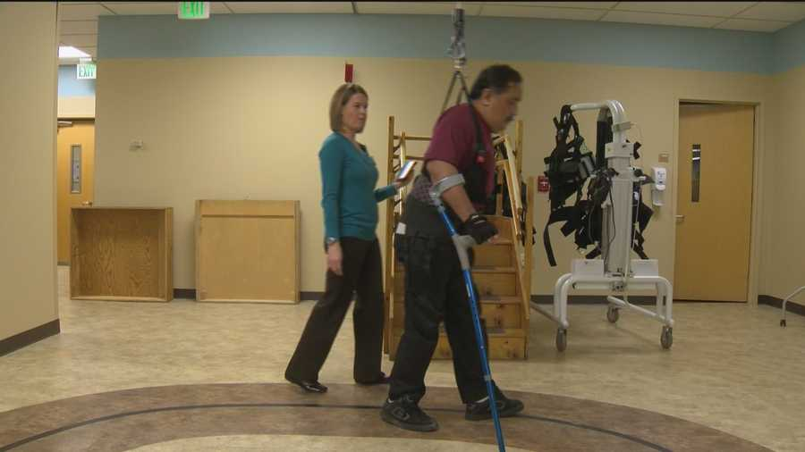 The Vector Gait and Safety System is a robotic trolley system attached to a track on a ceiling with an attached harness that holds the patient and the new piece of medical equipment is giving stroke and spinal-cord injury patients new hope.