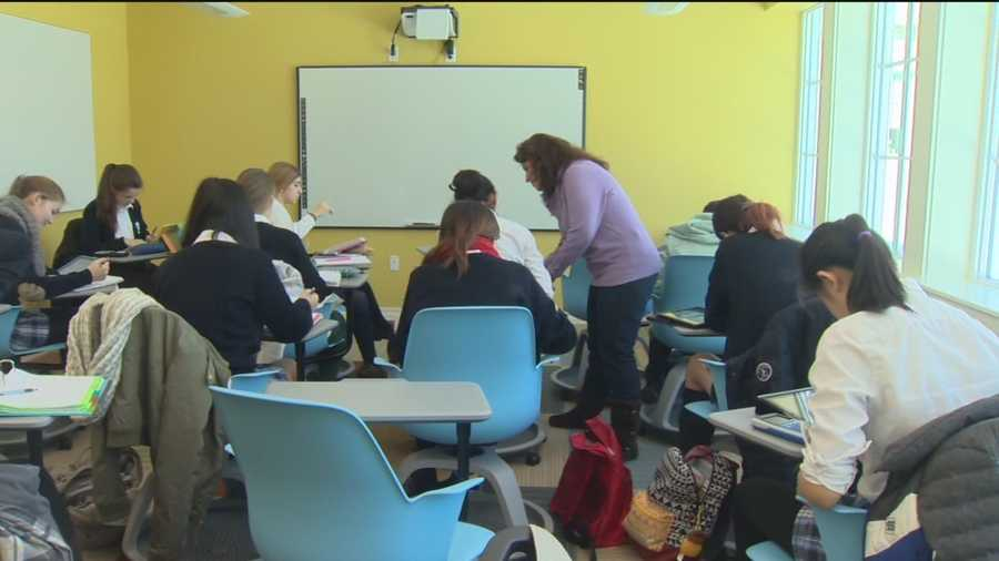 Not even snow could stop students from learning at St. Timothy School, in Stevenson, Baltimore County.