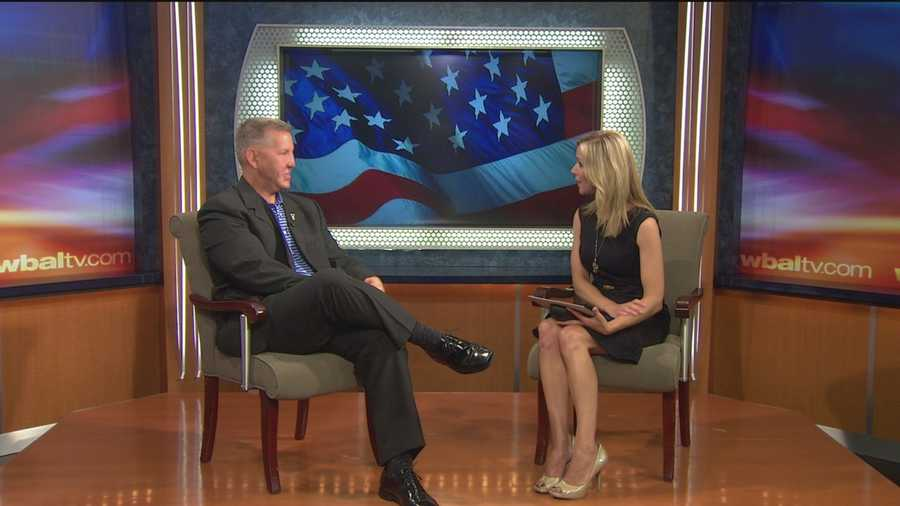 11 News' Sarah Caldwell talks with Lt. Col. Justin Constantine, a wounded veteran who shares his story of survival and discusses the Wounded Warriors' Memorial Day Mile in Canton this weekend.
