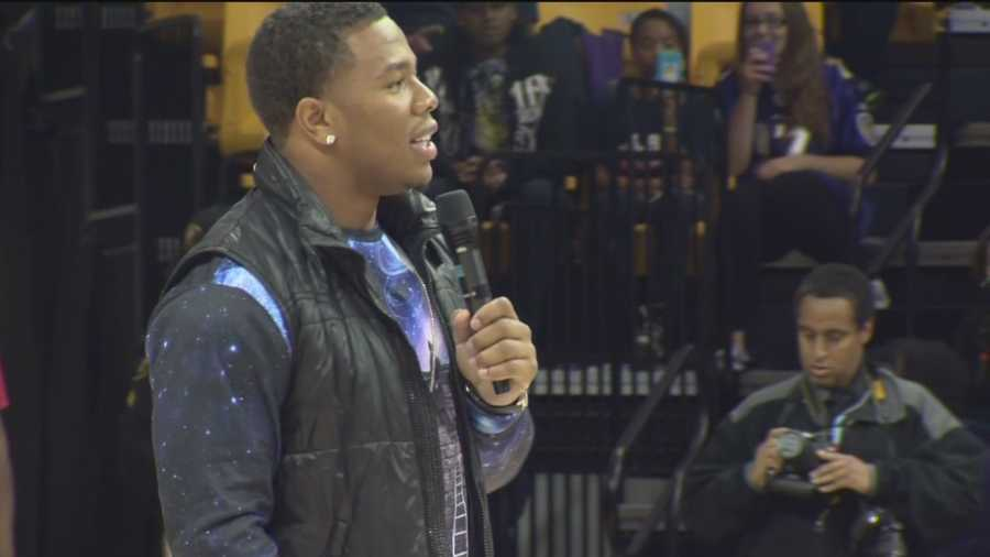 Athletes can become known for their causes and Ray Rice loaned his celebrity muscle to a growing anti-bullying movement in Maryland.