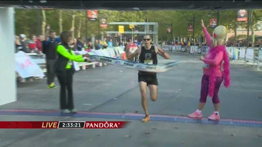 Brian Rosenberg, 37, of Mechanicsburg, Pa., wins the 2014 Baltimore Marathon!