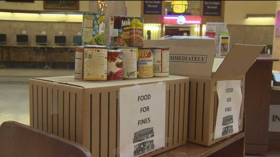 "A can of food is as good as $1 in your pocket at the Enoch-Pratt Free Library this month. Their ""Food for Fines"" program is back."