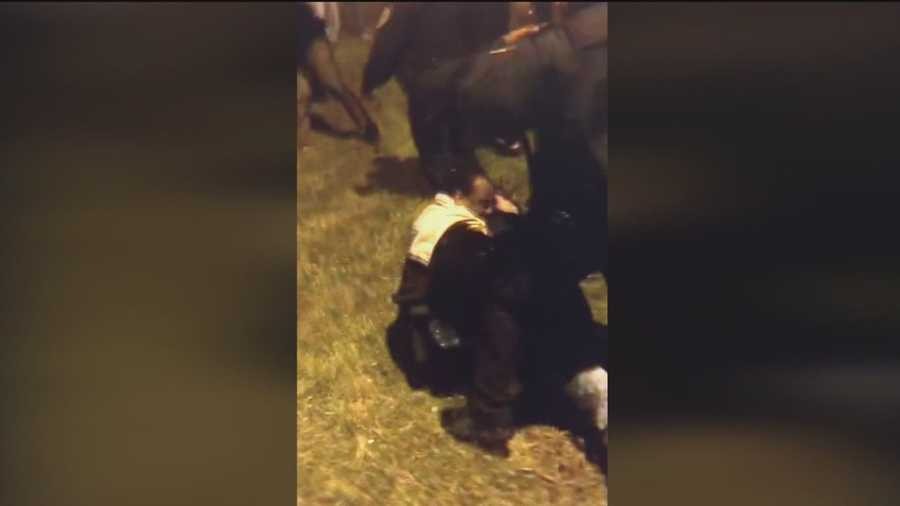 Fights break out at a dance at Morgan State University.