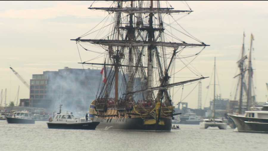 The Hermione is a replica of the ship that brought the Marquis de Lafayette to Baltimore in 1780.