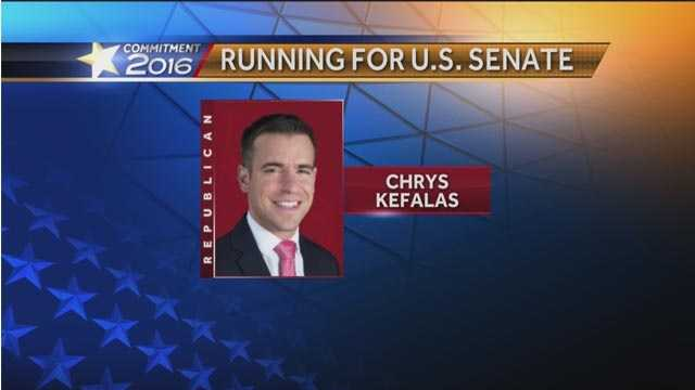 Chrys Kefalas,  a one-time aide to former Gov. Robert Ehrlich, announced he is running as a Republican in the race for U.S. Senate in Maryland.